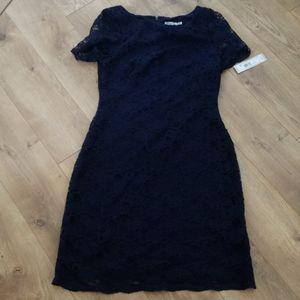 Stunning navy blue lace dress